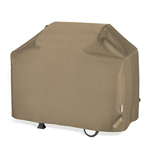UNICOOK Barbecue Gas Grill Cover 60 Inch, Waterproof BBQ Cover with Seam Taped, Rip and Fade Resistant, Fits Most Brands Gas Grills, 60″ W x 23″ D x 42″ H, Neutral Taupe