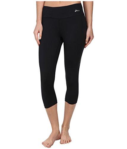 ASICS Women's Lavatrie Athletic Capri Pant (Medium, Black)