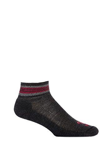 Farm to Feet Men's Ballston Spa Lightweight 1/4 Crew Socks, Large, Charcoal/Formula One - Backpacker Socks