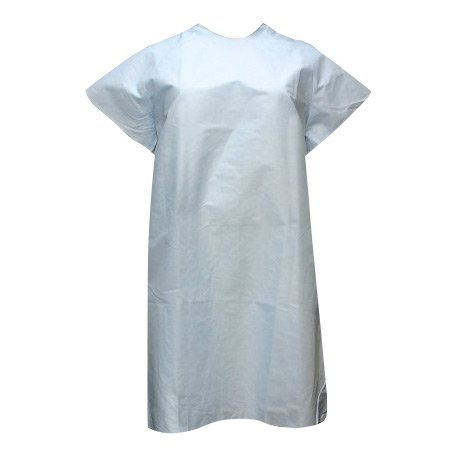 Unisex Blue Hospital Classic Patient Gown Tie Back, Pack of 4