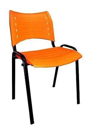 6x - Silla confidente para oficina - Silla PVC, ideal para oficinas ...