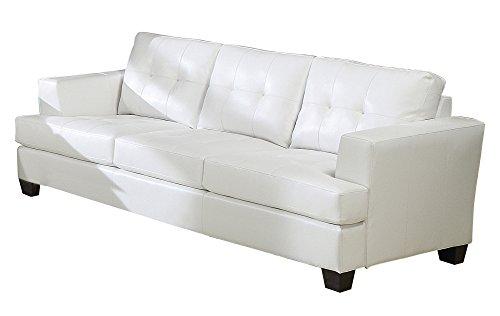 ACME Platinum White Sofa