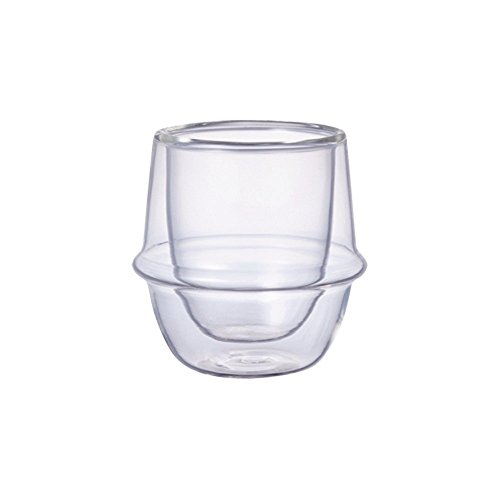 KINTO Gray Tea For One and Three KRONOS Double Wall Glass Espresso Cup, Set of 4 by KitcheNova (Image #2)