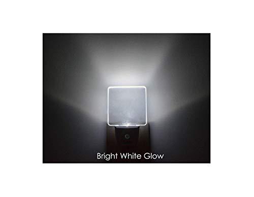 iAVO 2 Piece Auto on/Off Plug in LED Night Light with Dusk to Dawn Sensor, Bright White Glow