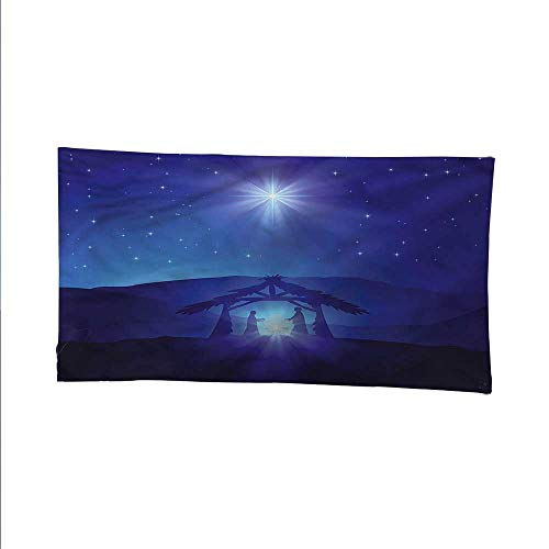 Indigospace tapestrywall Hanging tapestryNight Sky and Bethlehem 72W x 54L Inch ()