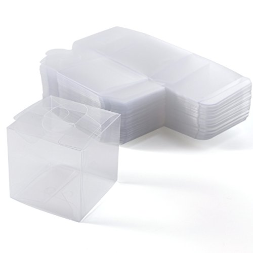 CLE DE TOUS - Set de 50/100 Cajas para dulces bombones Cajita cuadrada transparente Plástico para boda regalo Clear Cube Gift Boxes PVC (100): Amazon.es: ...