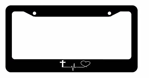 OwnTheAvenue Faith Hope Love Symbol Heart Cross Christian Christ #2PLN Symbols Only License Plate Frame