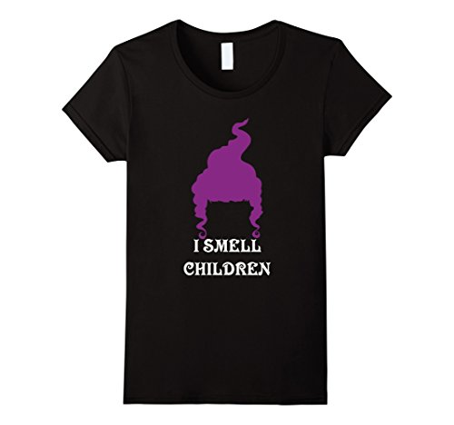 Womens I Smell Children Funny Halloween T-Shirt Small (Hocus Pocus Sanderson Sisters Costumes)