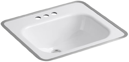 KOHLER K-2890-4-0 Tahoe Metal Frame Bathroom Sink, ()