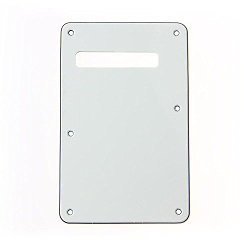 Kmise Z4904 Mint White 3-Ply ST Style Guitar Tremolo Spring Cover Back Plate American Standard