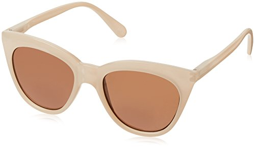 (Peepers Women's Mimosa Sun-Tan Cateye Sunglasses, Natural, 1.5 1.5)