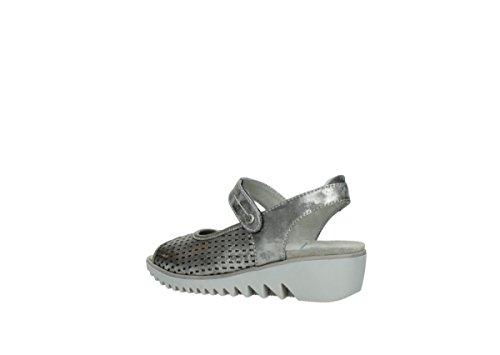 Wolky Comfort Sandalen 03820 Blade 10200 grau/silber Nubukleder