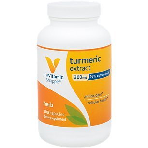 Turmeric Extract 300mg, Standardized Herb That Supports Cellular Health Provides Antioxidant Benefits with 95 Curcumin and 65mg of Calcium (300 Capsules) by The Vitamin Shoppe