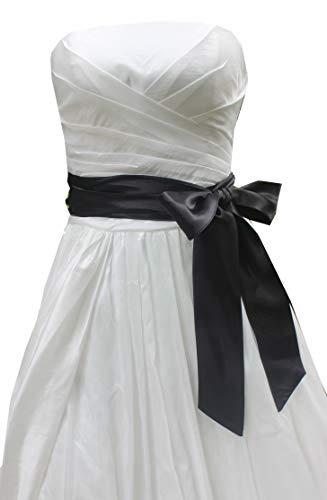 Wedding satin sash belt for special occasion ddress bridal sash (Black) (Satin Black Belt)