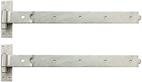 "hook and band hinges heavy duty adjustable galvanised  24/"" 4.5 pairs"