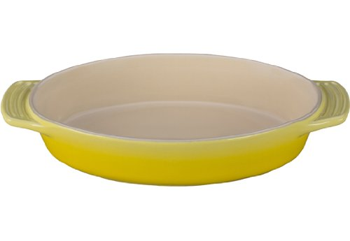 Le Creuset Stoneware Oval Dish, 1-Quart, (Yellow Oval Baking Dish)