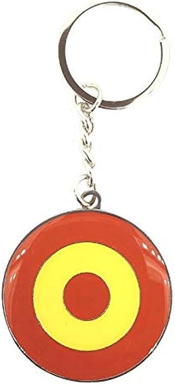 Llavero Bandera RAF Española Escarapela Española: Amazon.es: Ropa y accesorios