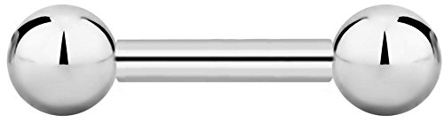 Barbell 14g Straight - 14g 8mm Internally Threaded Surgical Steel Straight Barbell Body Piercing Jewelry, 4mm Balls