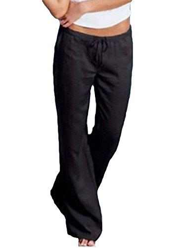 Le Moderne Hipster Large Mi Jeune Élégant Pour Interne Jolie Pantalon Gratuit Couleur Unicolore De Taille En Côté Long Plage Doux Printemps Style Noir Dentelle X8wqw