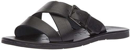 Steve Madden Men's Suspense Sandal, Black Leather, 13 M US