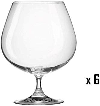 Juego de 6 copas de tamaño pequeño de cristal Brandy coñac diseño ...
