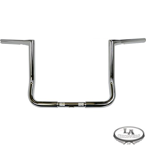 LA Choppers 1 1 /4in. Twin Peaks Touring Handlebar - 12in. Bagger - Chrome, Color: Chrome, Handle Bar Size: 1 1/4in. LA-7361-12 (Chrome Chopper)