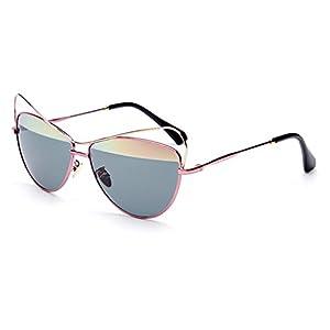 LENSTAR DSG800039C3 2016 PC Lens Metal Sunglasses,Metal Frames Non-Polarizer