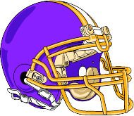 """6"""" Printed color football helmet right purple FOOTBALL RUGBY FIELD LOCKER TOUCHDOWN ALIEN REFEREE COACH sticker decal for any smooth surface such as windows bumpers laptops or any smooth surface."""