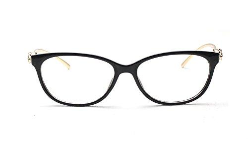 Caixia Women's SJT-9188 Plastic Frame Cobra Accent Cateye Glasses Small Size (matte black, - Cateye Cheap Glasses