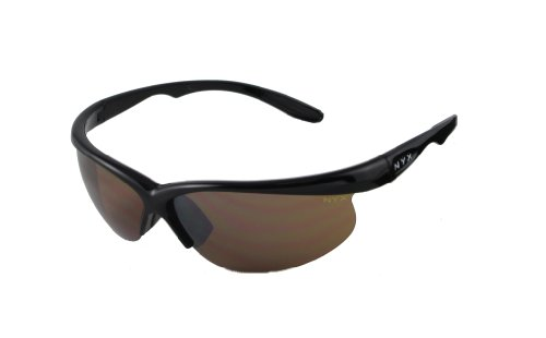 NYX Classic Competition Sleek Style Amber 3-Lens Set Sunglasses (Amber Lens/Black Gloss - Sunglasses Rose Amber