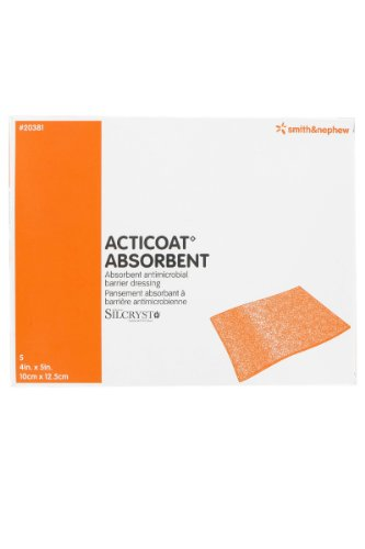 Acticoat Absorbent Dressing 4'' x 5'' Box: 5 by Smith & Nephew