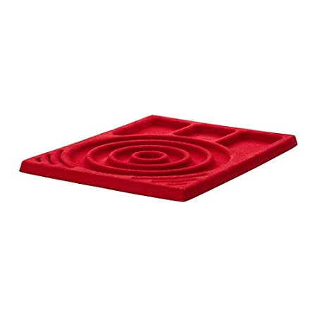 IKEA KOMPLEMENT Jewellery insert for pullout tray red 50x58 cm