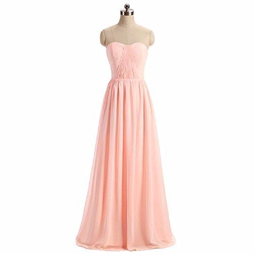 Chiffon Sleeveless a Women's Prom Dresses Gowns GMAR Long Bridesmaid Burgundy Evening aIq5WwC