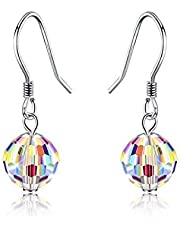 Women Earrings, AT 925 Sterling Silver Earrings for women Aurore Boreale Crystal Earrings, ideal Gifts with Gift Packed