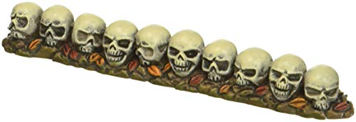 Department 56 Halloween Collections Straight Row of Skulls Figurine Village Accessory, Multicolor]()