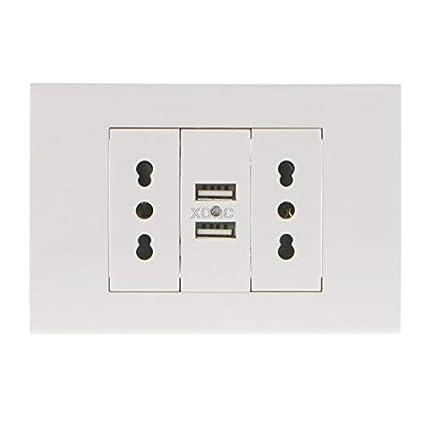 Amazon.com: Sockets 16A Wall Double Italian/Chile Plug Power ...