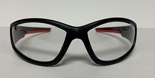 FIRE NINJA- SAFTEY GLASSES- Anti-Impact Eye Protection (ULTRAFLEX (Red/Black)) by FIRE NINJA
