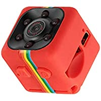 Mini Camera SQ11 1080P Full HD Sports Micro Cam Motion Detection Camcorder Infrared Night Vision Video Recorder Wide Angle- Red
