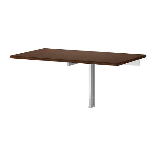 Ikea Wall-mounted drop-leaf table, brown 626.52317.1010 (Ikea Bar Chair)