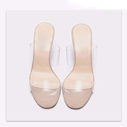 Femmes Chaussures Talons Couleur La des KPHY Pantoufles Transparence avec pour 7 Sept des Cm des Trente Nu Sandales Chaussures Sexy qEwwXCdAxT