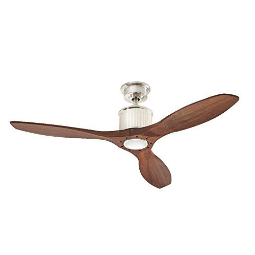 Propeller fan amazon brushed nickel led ceiling fan aloadofball Image collections