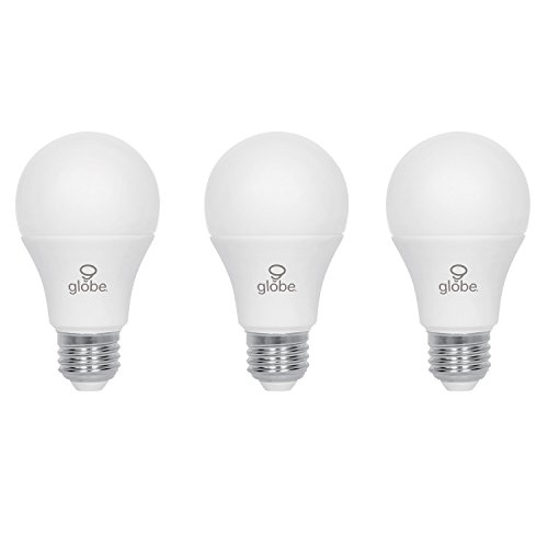 Globe Electric 60W Equivalent Daylight (5000K) A19 LED Light Bulb, 3-Pack, E26 Base, 800 Lumens 31001