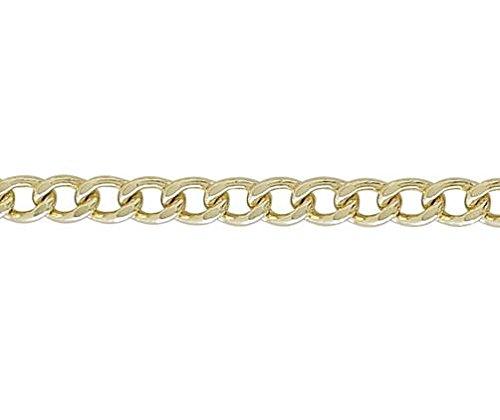 9ct or jaune enroulé 19,1cm/Gourmette Bracelet 19cm