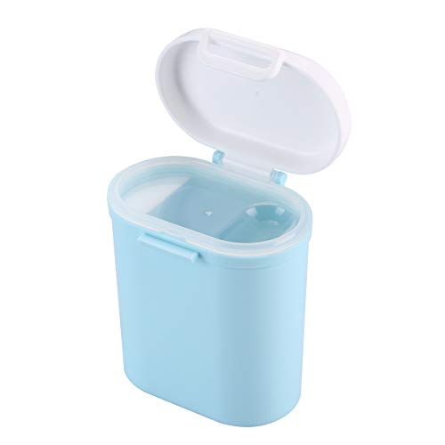 Portable Formula Dispenser with Scoop Baby Snacks Airtight Box 0.53Qt 500ML WEEMAA Blue