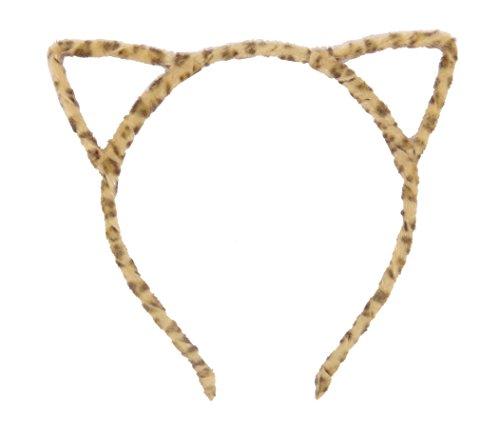 [Bonnie Z. Leonardo Ladies Girls Women Gold Cat Ears Headband Furry Gold 1pcs] (Lovely Leopard Sexy Costumes)