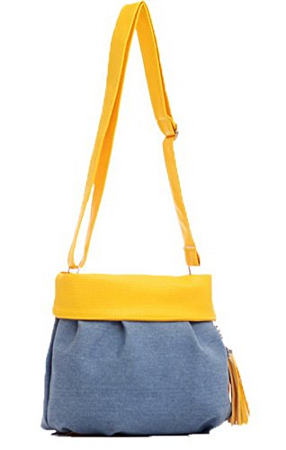 Yellow Voguezone009 Canvas Zipper Folded Shopping Ccaybp180934 Pants Casual Bags Women q8qCwFB