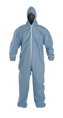 DuPont TM127SBUXL002500 X-Large Blue Safespec 2.0 Tempro Disposable Water And Flame Resistant Coveralls With Front Zipper Closure And Set Sleeves (1/EA)