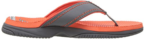 New Balance Unisex-Kids Mojo Thong Flip-Flop, Grey/Orange, P13 M US Little Kid by New Balance (Image #6)