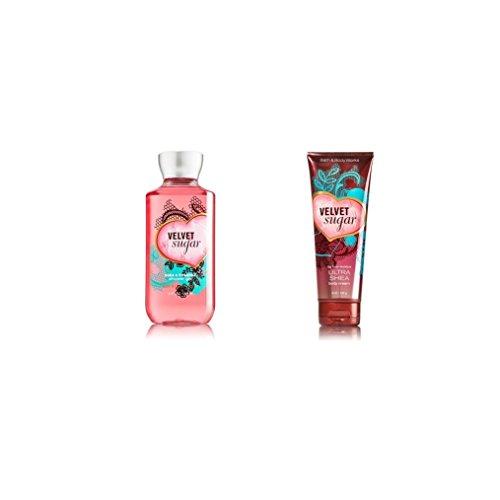 Bundle Pack Bath Body Works VELVET SUGAR Body Cream & Shower Gel Combo Pack