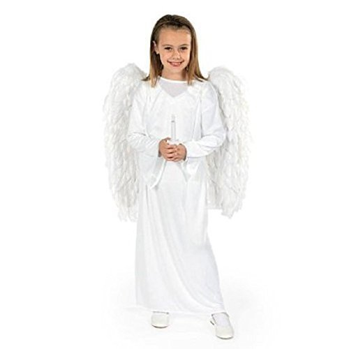 Angel Costume with Wings & Candle - Child (Girls Guardian Angel Costumes)